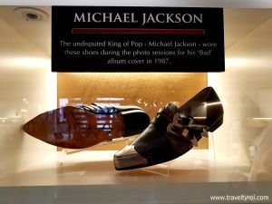 Michael Jackson's Shoes at Hard Rock Cafe Innsbruck