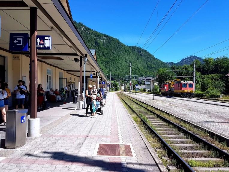 Bad Ischl train station of day trip from Salzburg to Hallstatt