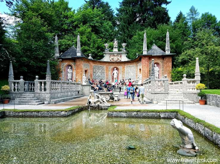 The Hellbrunn Palace trick fountains are included in the Salzburg Card