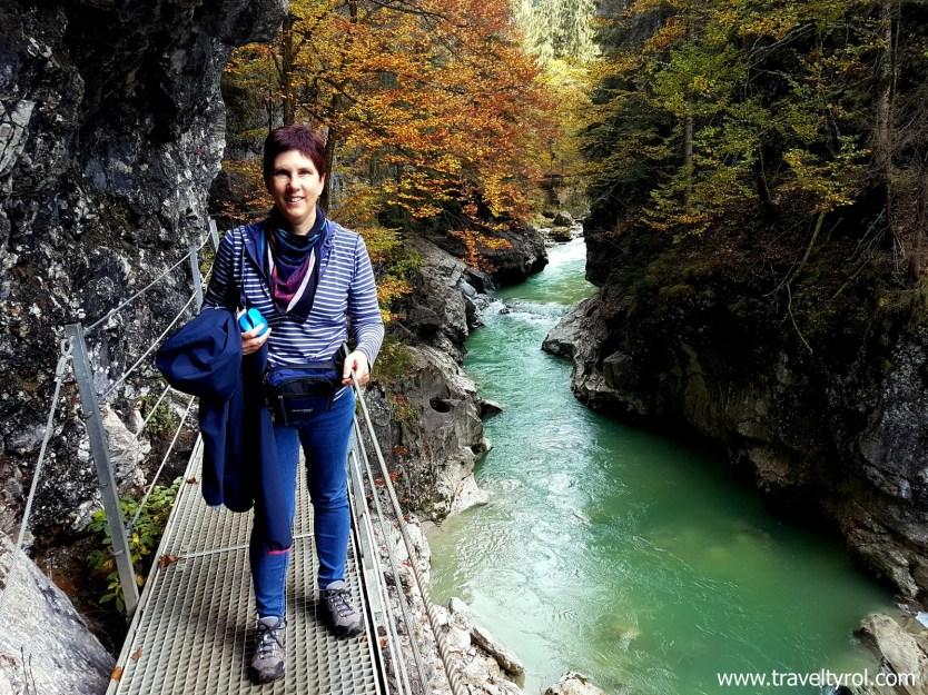 Autumn foliage on the Tiefenbachklamm hike in Austria.
