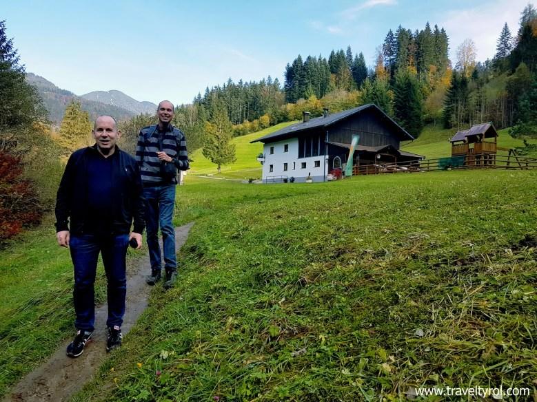 Walking back on the Tiefenbachklamm hike in Austria.