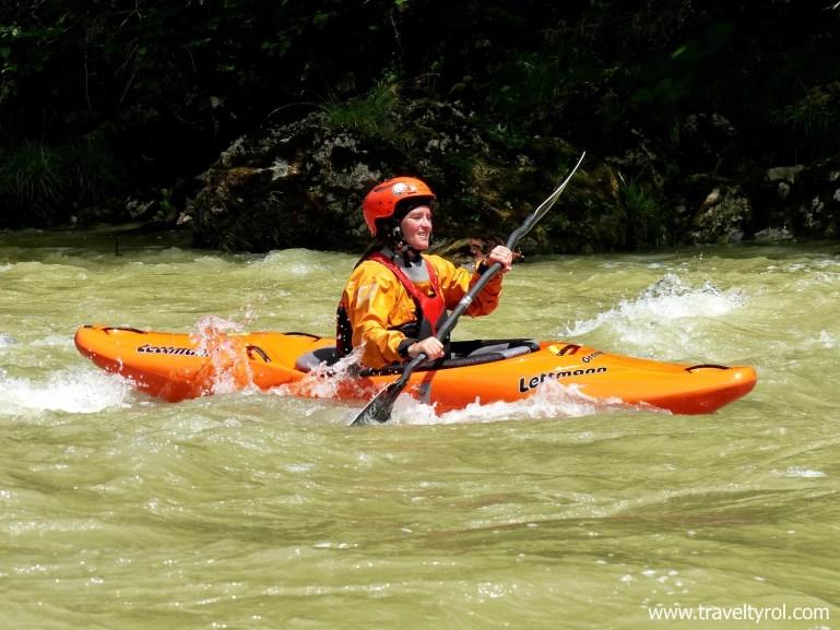 Kayaking in Austria in the Tiefenbachklamm.