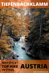 The Tiefenbachklamm hike in Austria