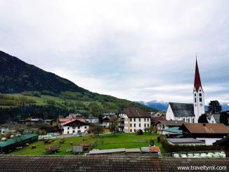 Balcony view from Hotel Serles in Mieders, Austria.