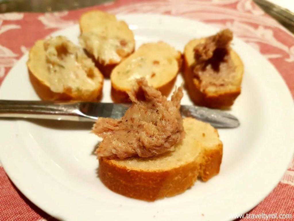 Lard on bread at Hotel Serles