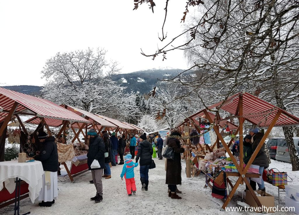 An authentic Austrian Christmas market.