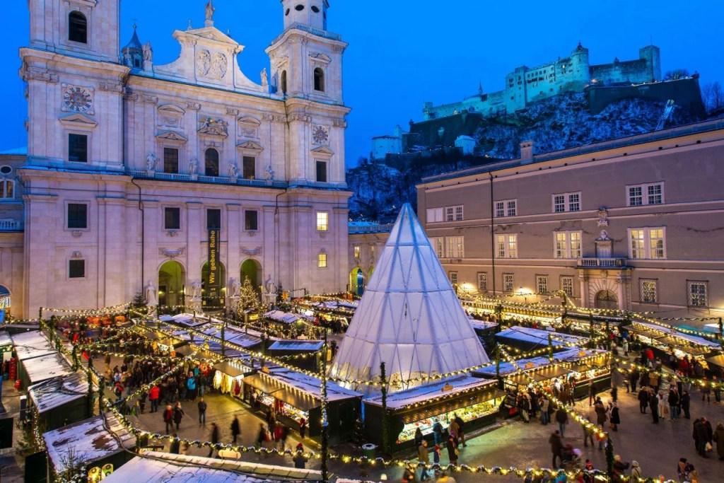 Salzburg Christmas Market around the Salzburg Cathedral square. Salzburg Christmas Market ©Salzburg Tourism Günter Breitegger.jpg