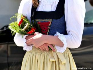 Traditional Dirndl dress Austria.