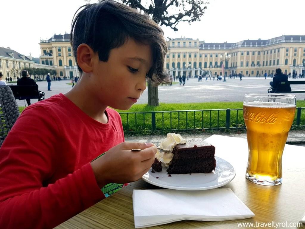 Visiting Viennese Palaces. Schönbrunn in Vienna.