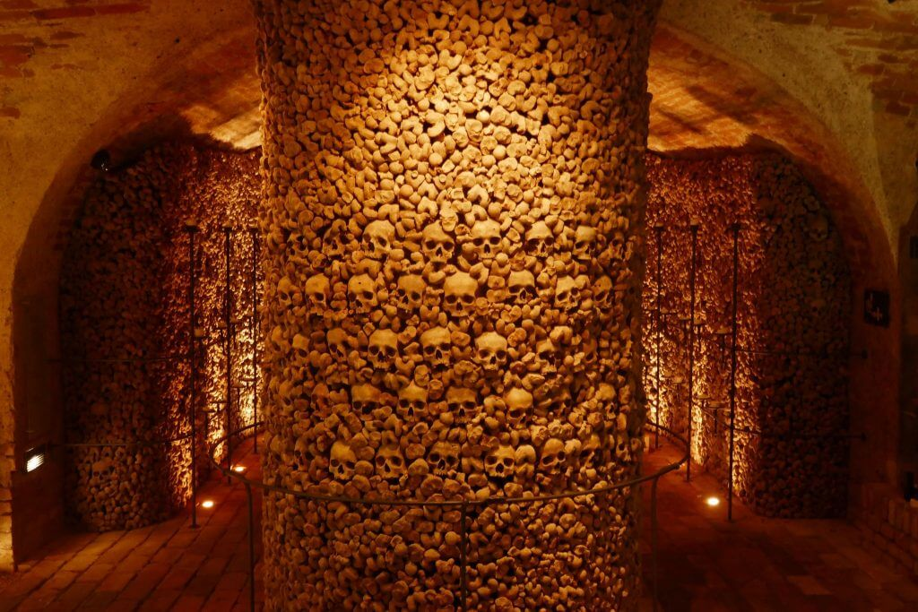 Seeing the ossuary in St James Church makes a Vienna to Brno day trip worthwhile.