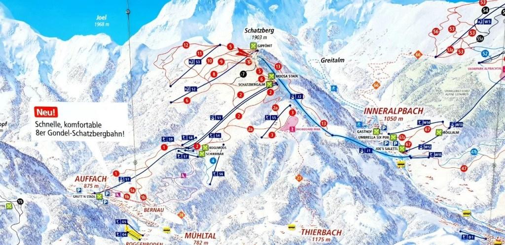 Wildschönau piste map.
