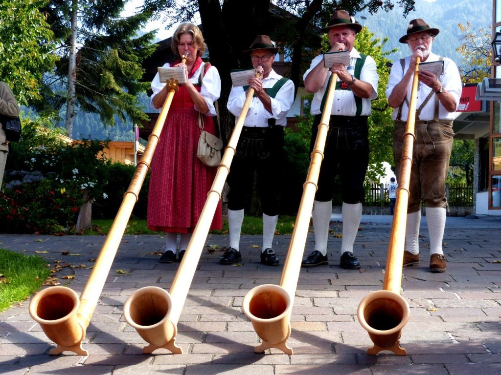 Traditional Austrian musical instrument, the Alphorn.