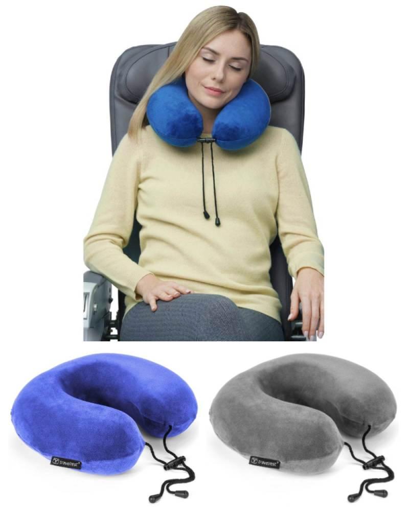 travelrest curl memory foam u shape travel neck pillow