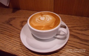 Flat White coffee at Monmouth Coffee, Borough