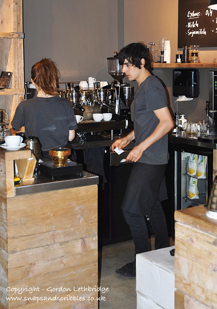 Baristas at work in The Barn