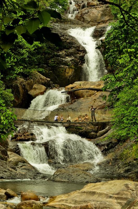 Kayaking on Lake Kenyir - one of several large waterfalls