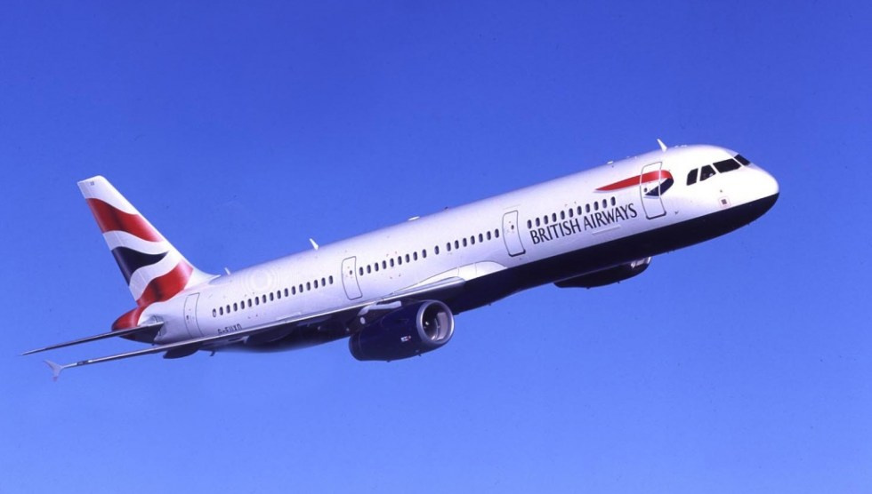 British Airways airplane inflight