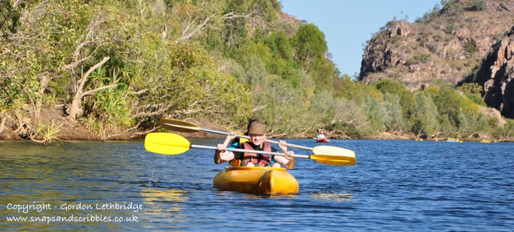 Katherine Gorge in a canoe