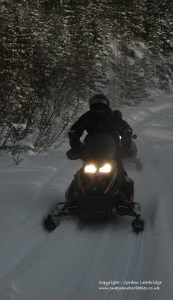 Snowmobile at night