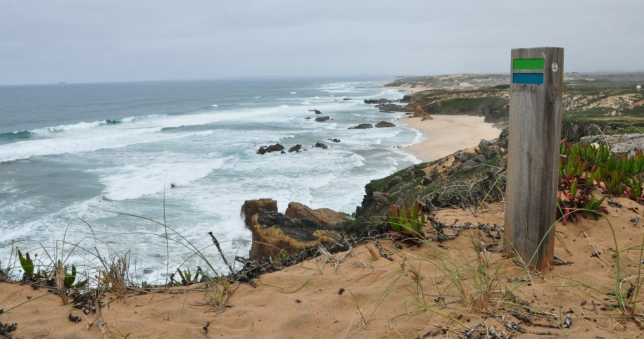 Looking north along the Alentejo Coast from the Fishermen's Path