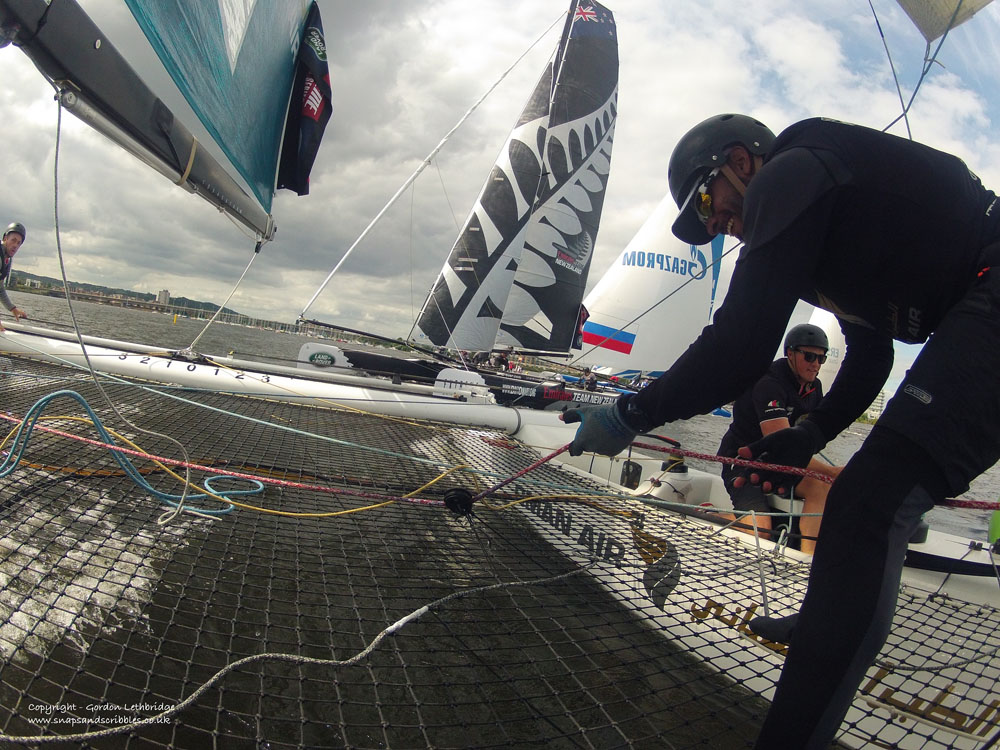On board with Oman Air as it leaves Emirates Team New Zealand in its wake