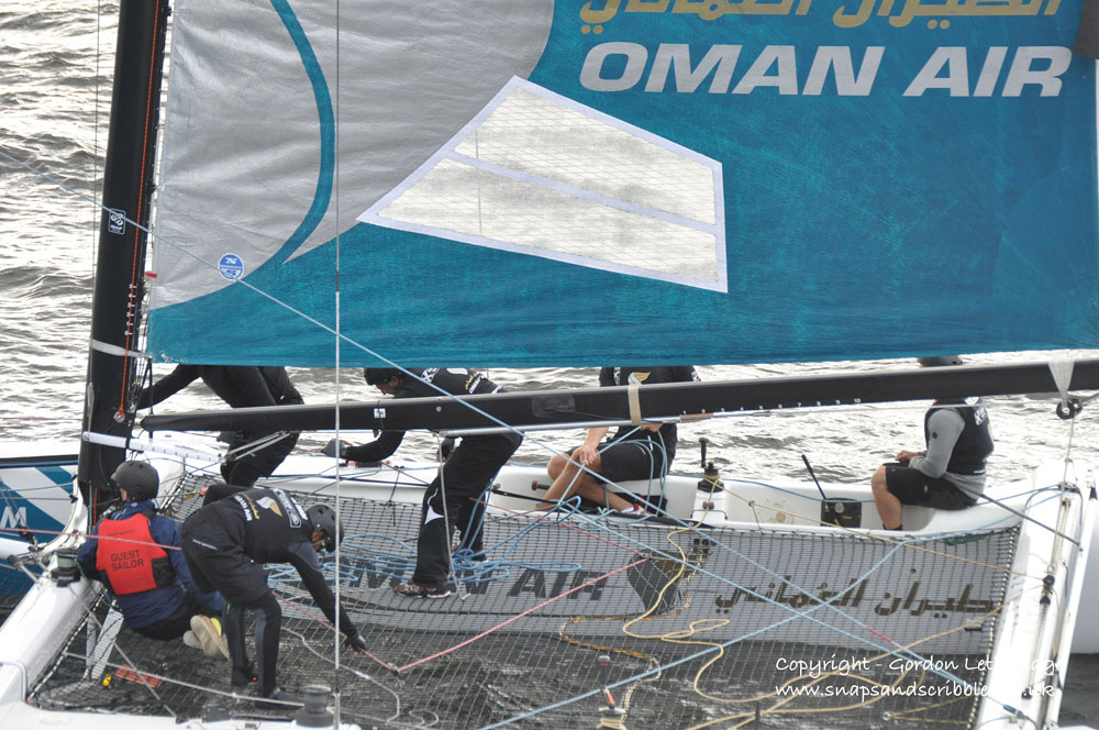 Action on Oman Air's boat