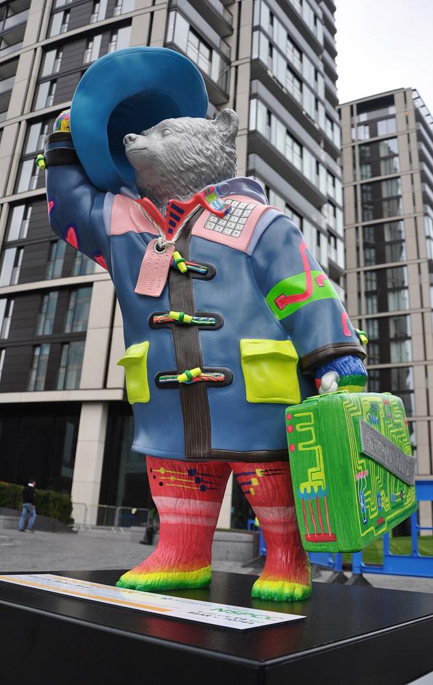 Futuristic Robot Bear in Merchant Square, Paddington Basin