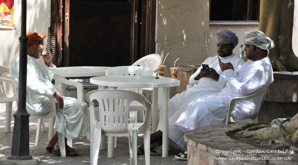If shopping in the souq is too much enjoy a drink at the local cafe
