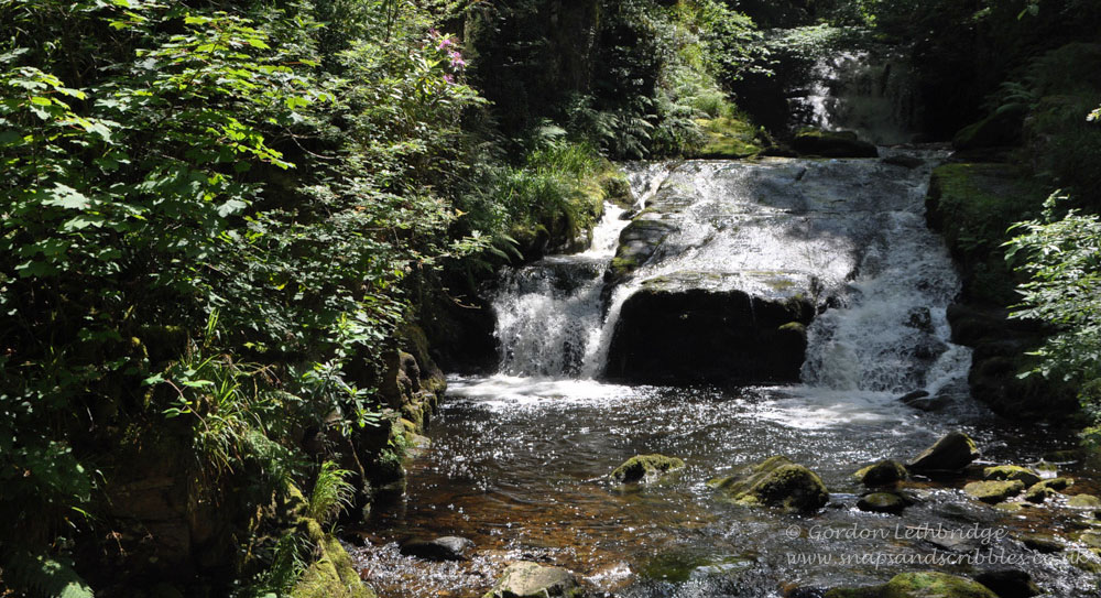 The setting for cream teas at Watersmeet is idyllic
