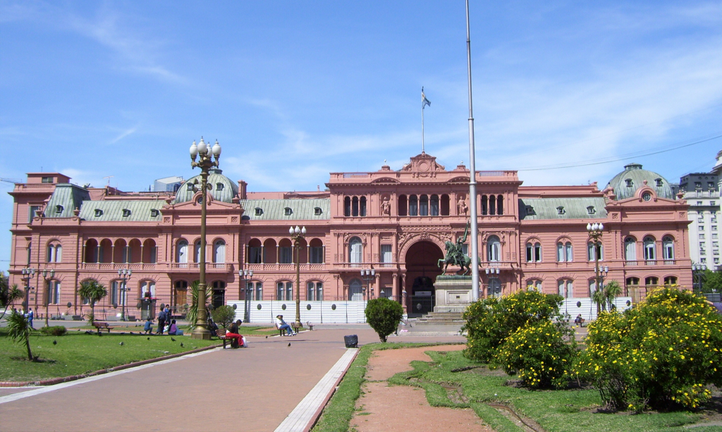 """""""Don't Cry for Me Argentina"""" - the CAsa Rosada in Buenos Aires"""