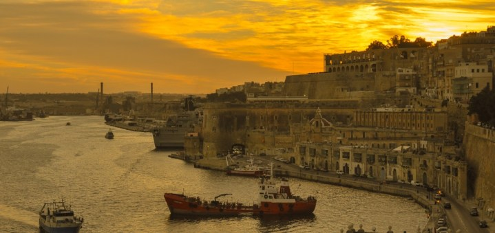 Sunset over Valletta