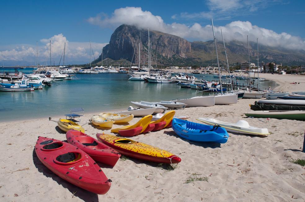 Sea Kayaks for hire at San Vito lo Capo