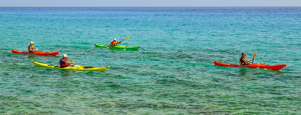 Kayaking UK, kayakers in a group