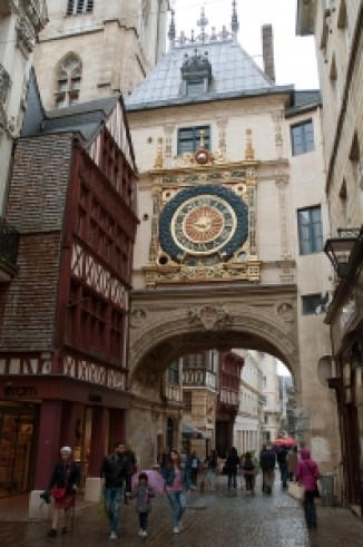 The Grand Clock and archway in Rouen