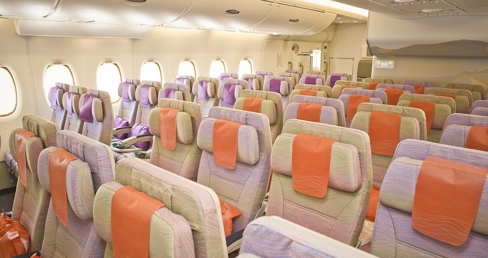 Long-haul flights - cabin interior