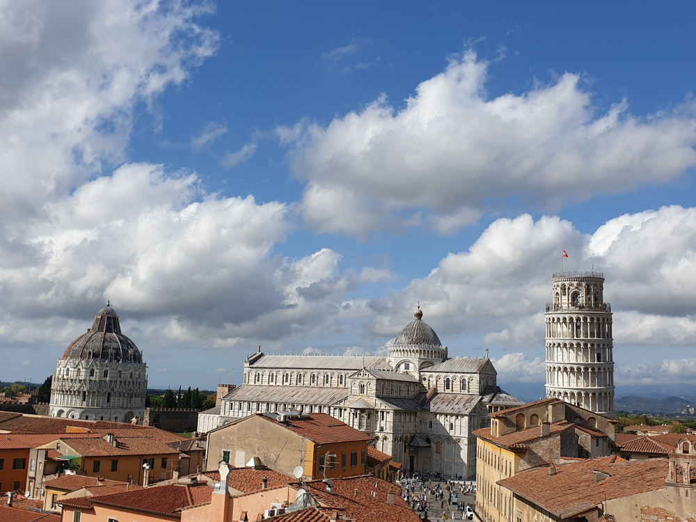 Where in the World 400 the skyline of Pisa