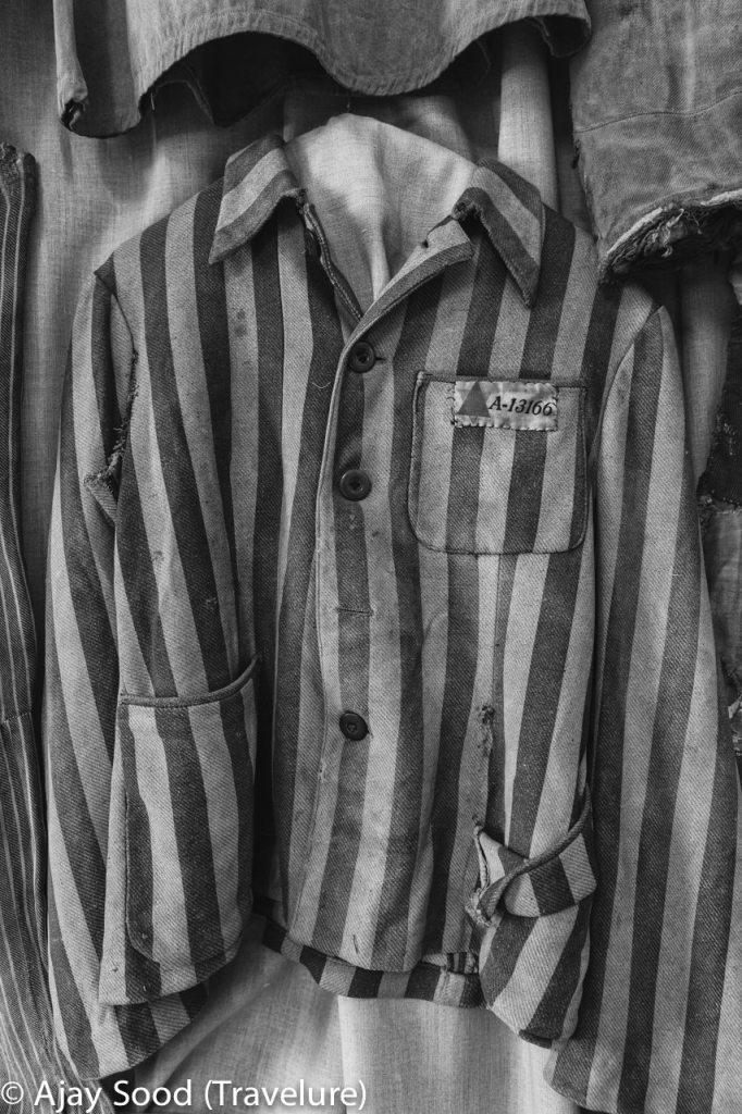 Haunting Photographs of Auschwitz Memorial Camp Prisoner Uniform - WW-II Holocaust