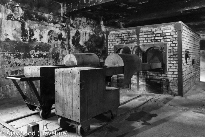 Haunting Photographs of Auschwitz Memorial Camp Body Loading Trolley Gas Chamber Crematorium - WW-II Holocaust