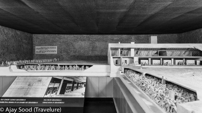 Haunting Photographs of Auschwitz Memorial Camp Architect Model of Gas Chamber Crematorium - WW-II Holocaust