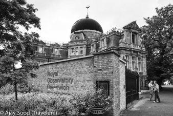 Royal Observatory marks the prime meridien