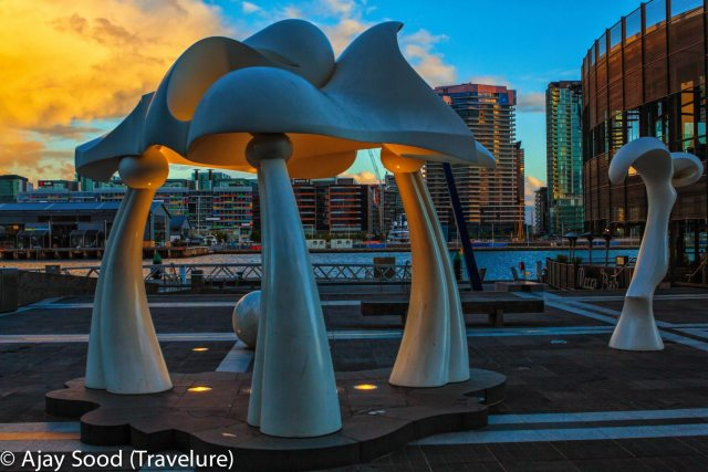 Aesthetic installations at The Docklands, Melbourne