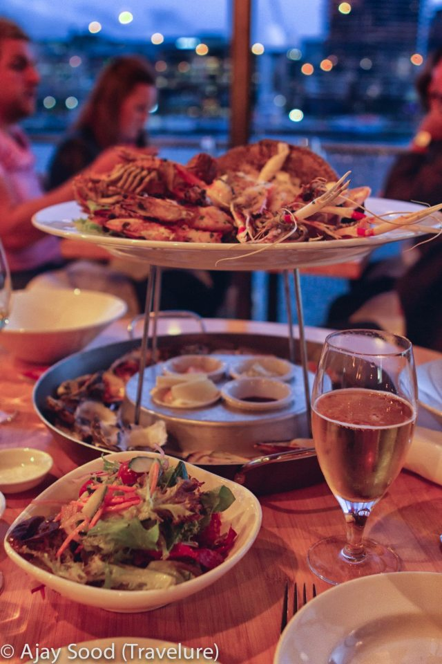 Scrumptious Seafood Platter at Live Bait, The Docklands, Melbourne