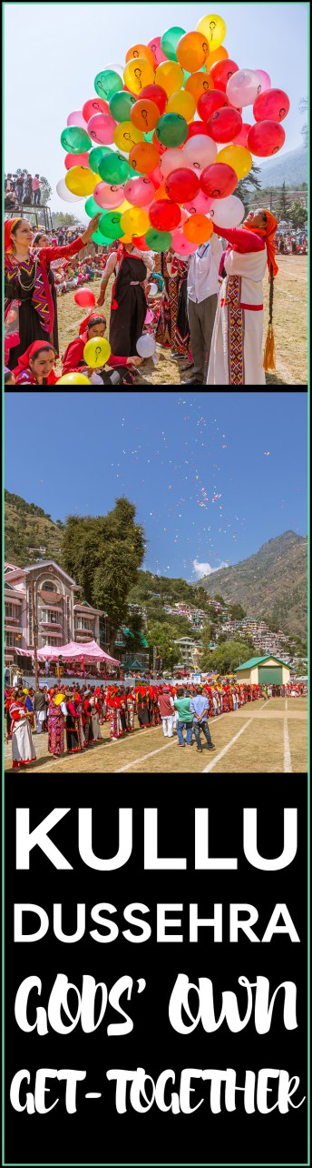 Balloons released during Kullu Dussehra - Gods' Own Get-Together