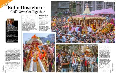 Page 1 & 2 of the article 'Kullu Dussehra - Gods' Own Get-Together
