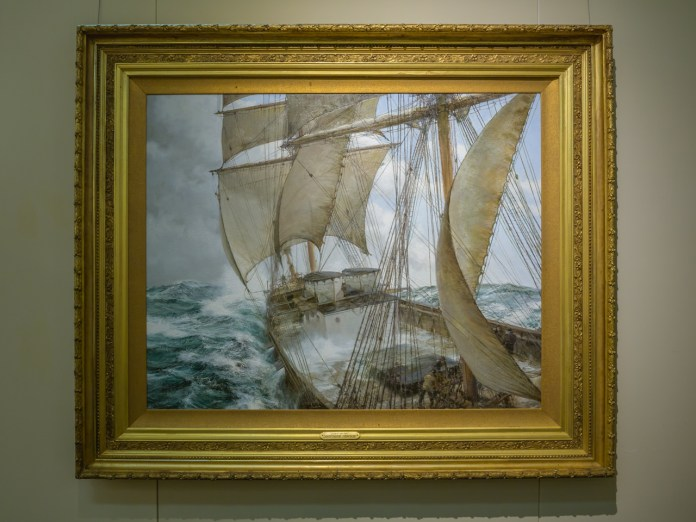 A junk boat painting from the Tuscaloosa Museum of Art - Black Warrior Alert - Tuscaloosa