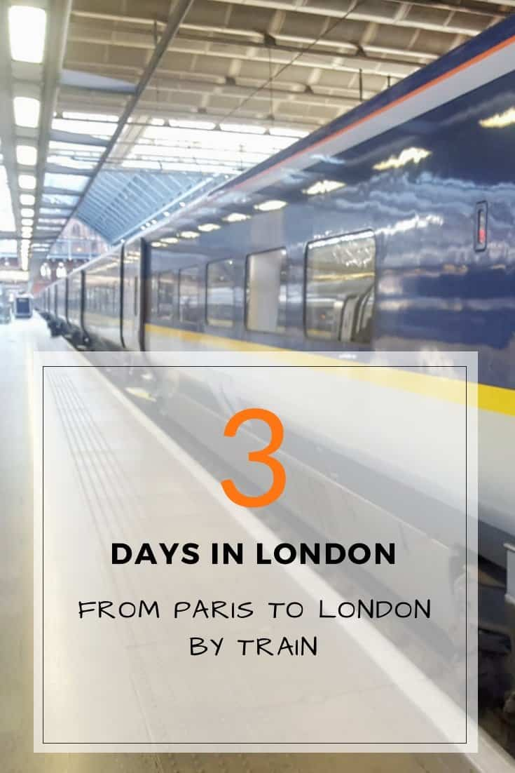 3 Days Paris to London by Train - pin it