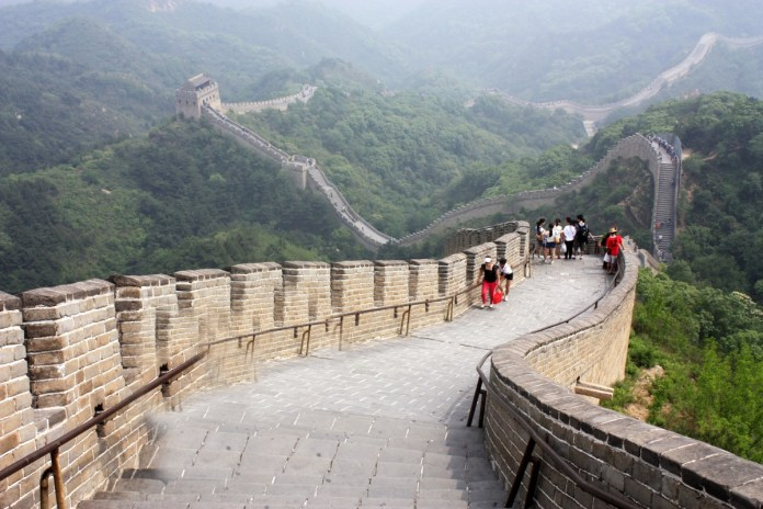 The Great wall of China. seven wonders of the world