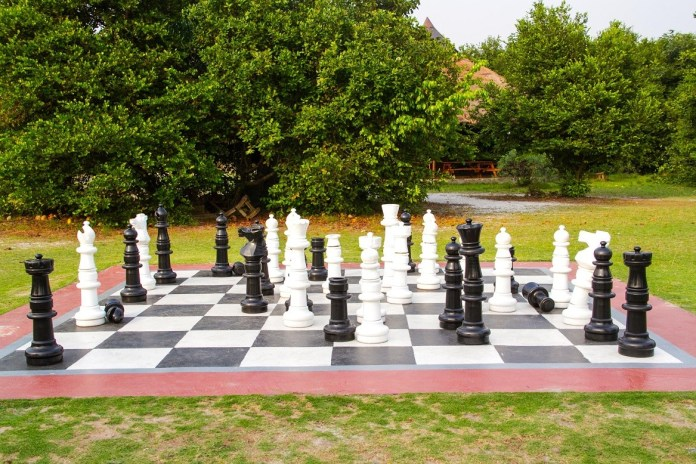 life size chess at Lekki Conservation Centre