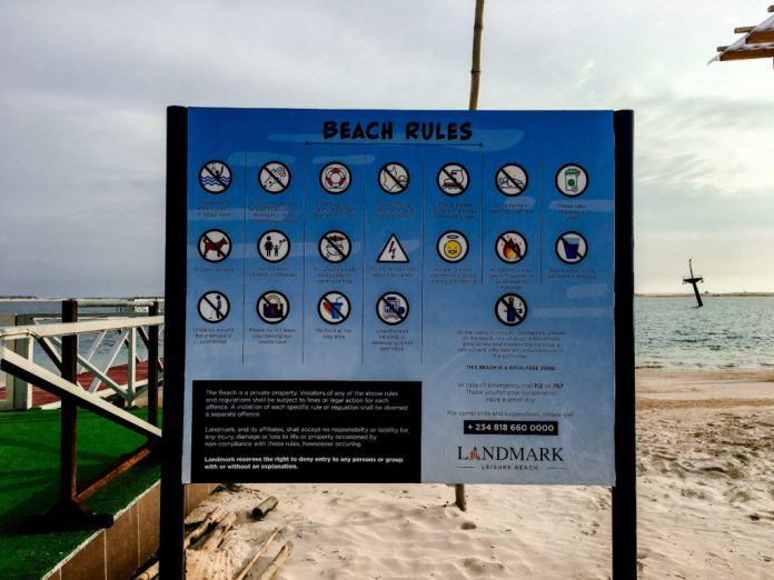 landmark beach rules/gate fee