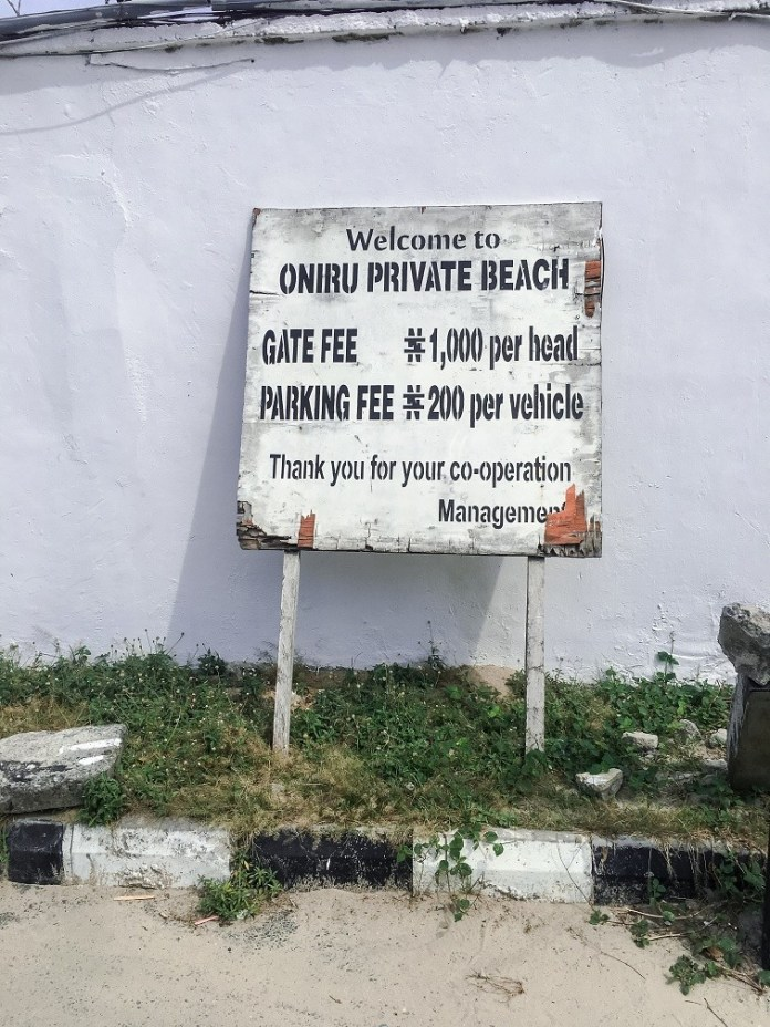 oniru gate fee